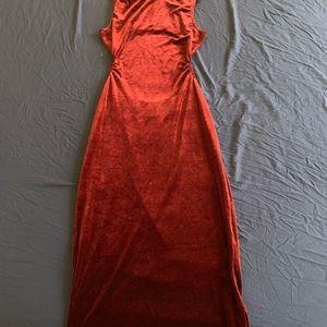 Velour Burgundy dress